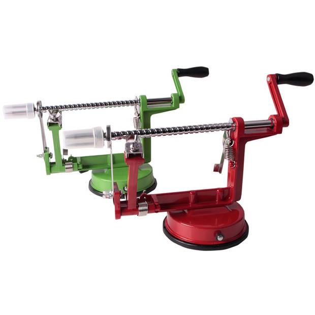 Appelschilmachine Aluminium Met Zuignap Rood Groen