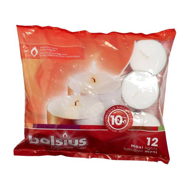 Bolsius Maxi-lichten 10-uur - 12 Stuks