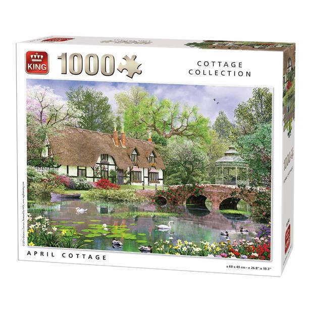 King puzzel Cottage Collection April cottage - 1000 stukjes