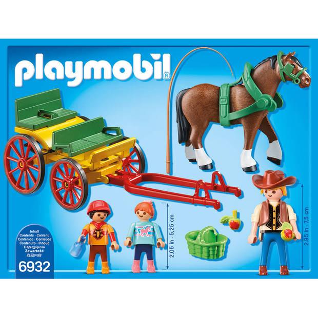 PLAYMOBIL Country paard en kar 6932
