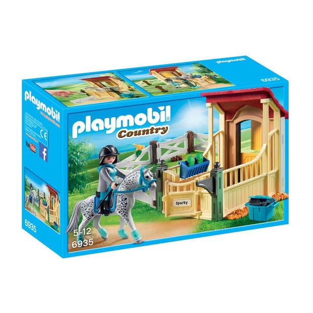 PLAYMOBIL Country Appaloosa met paardenbox 6935
