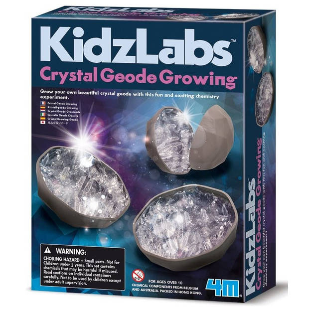 4M Kidzlabs Geode Kristal groeiset