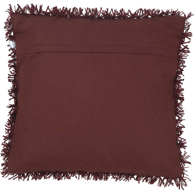 Dutch Decor Kussenhoes Ottawa 45x45 cm bordeaux