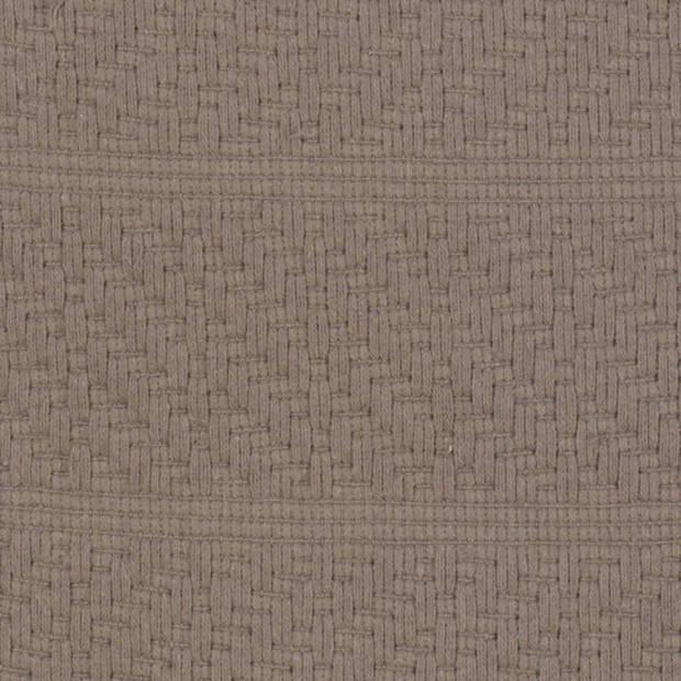 Dutch Decor Kussenhoes Rissla 50x50 cm taupe