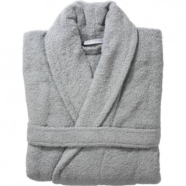 Blokker badjas unisex - L/XL - licht grijs