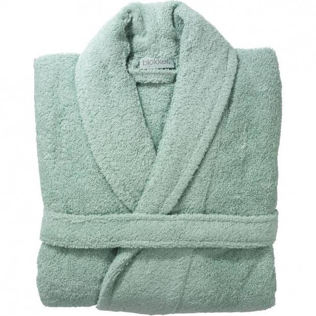 Blokker badjas unisex - L/XL - licht groen