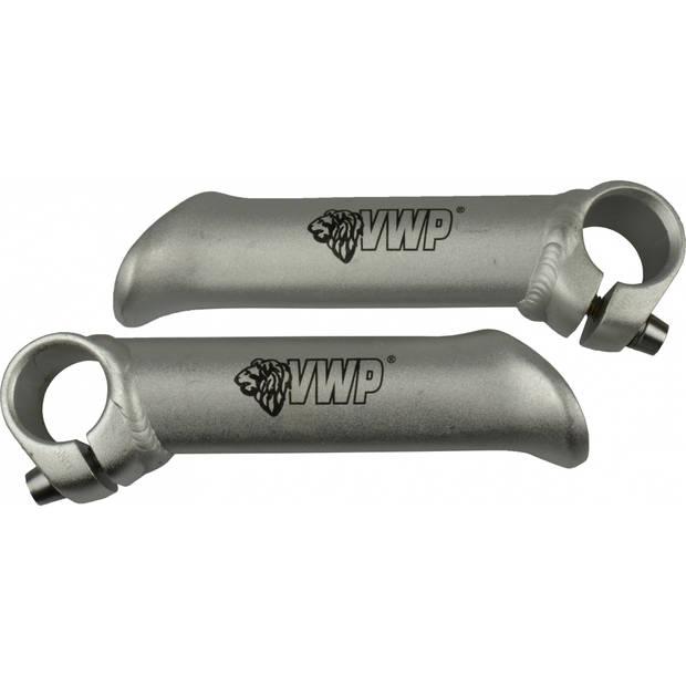 VWP bar ends 10 cm aluminium zilver 2 stuks