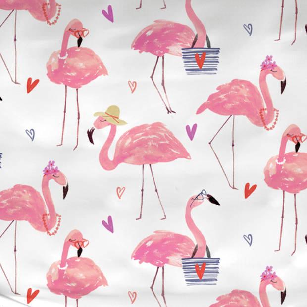 Satin d'Or dekbedovertrek Flamingo-200x200/220