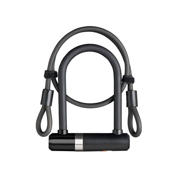 AXA U-slot Newton UL met kabel 1000 x 8 mm zwart