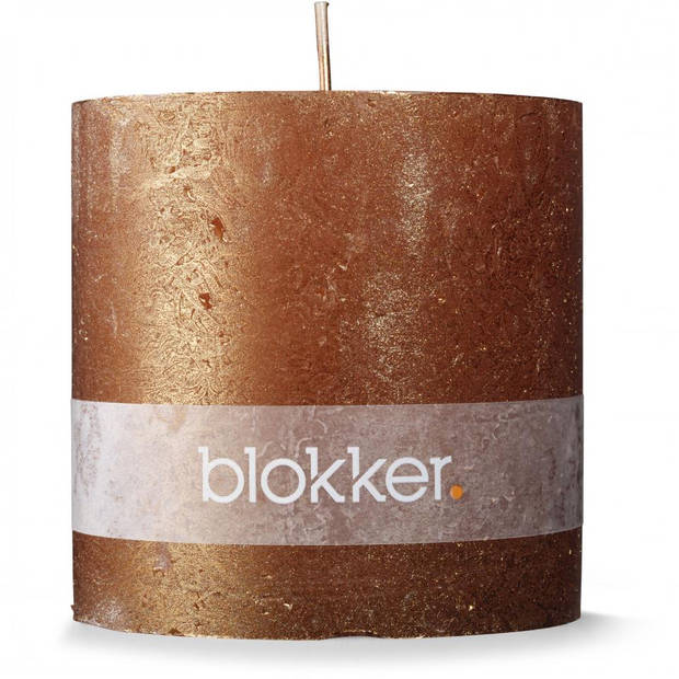 Blokker stompkaars - koper