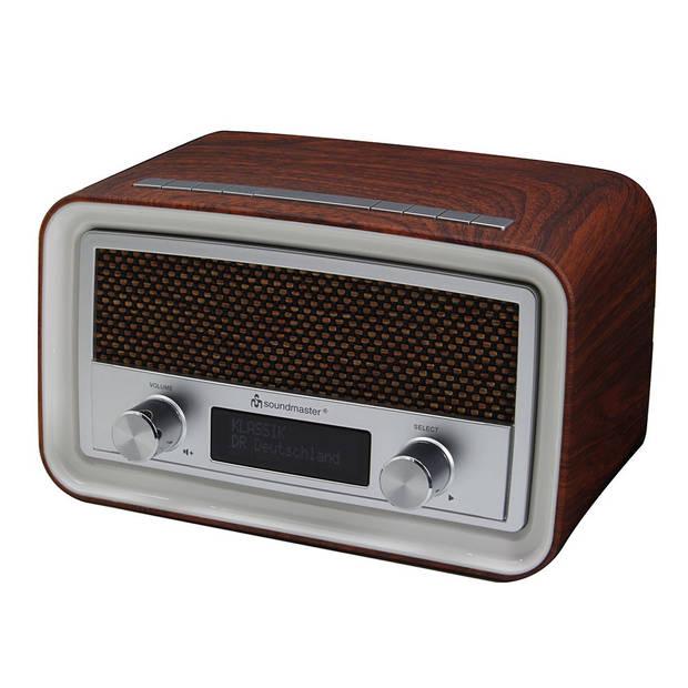 Soundmaster UR190DBR Radio DAB+ Wekker Bruin