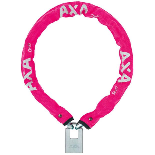 AXA kettingslot Clinch+ 85 cm x 6 mm roze