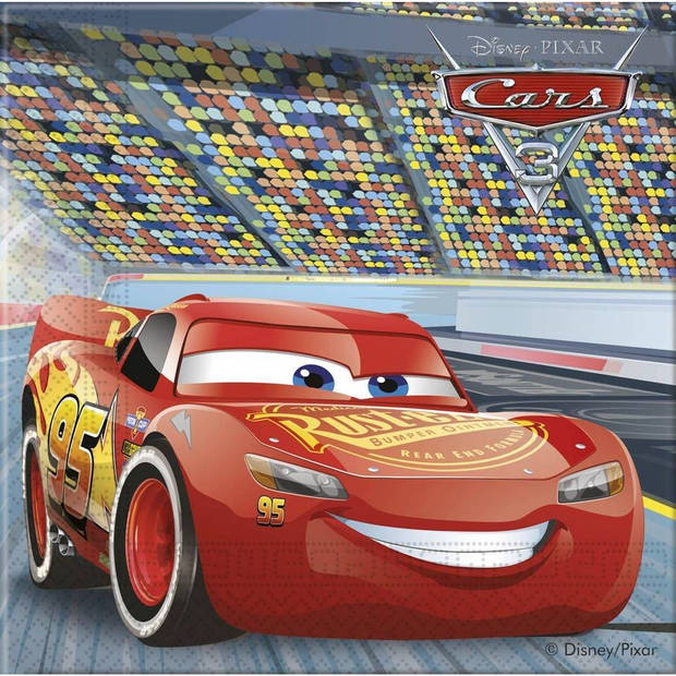 Disney Cars 3 servetten - 33 x 33 cm - 20 stuks