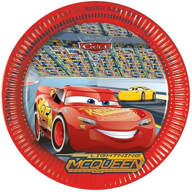 Disney feestborden Cars 3 23 cm 8 stuks