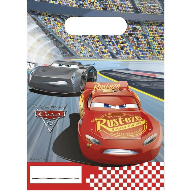 Disney Cars 3 uitdeelzakjes - 6 stuks