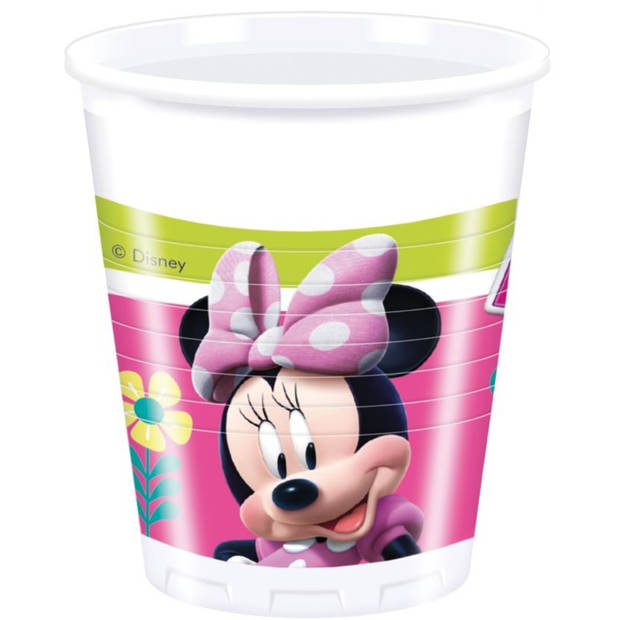 Disney feestbekers Minnie Mouse 200 ml roze 8 stuks