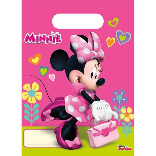 Minnie Mouse Helpers feestzakjes - 6 stuks