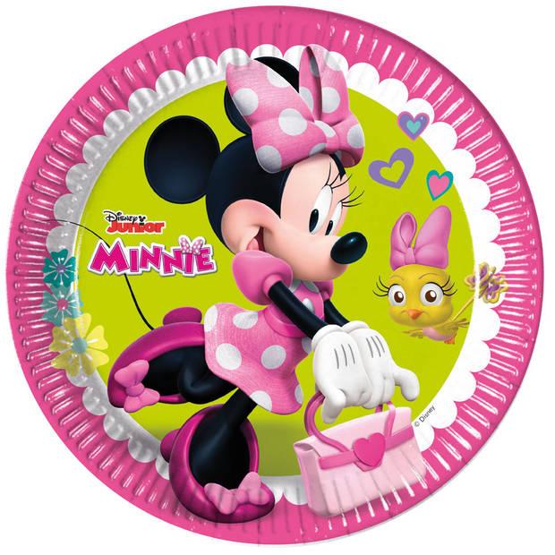 Disney Minnie Mouse Vrolijke Helpers papieren bordjes - 23 cm