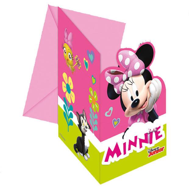 Disney Minnie Mouse Vrolijke Helpers uitnodigingen - 6 stuks