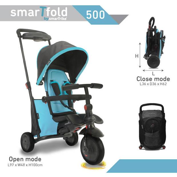 SmarTrike SmarTfold 500 opvouwbare driewieler 7-in-1 - blauw/zwart