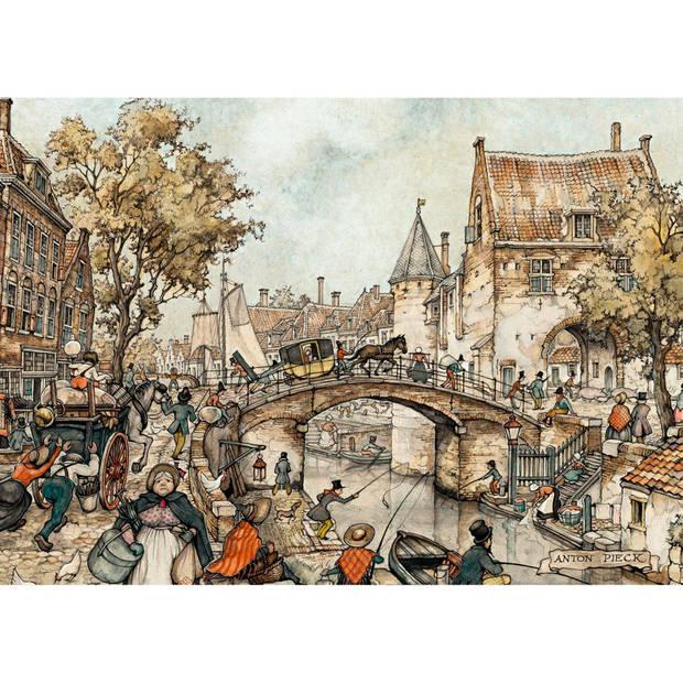 Jumbo Anton Pieck puzzel koets op de brug & de apotheker - 2 x 1000 stukjes