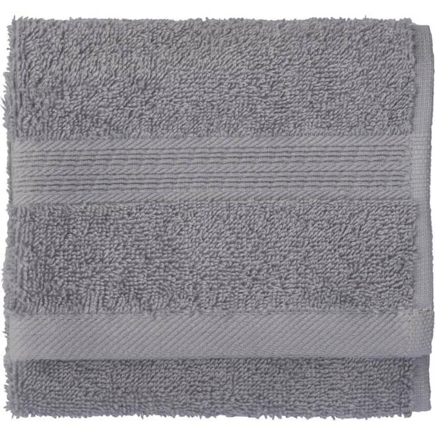 Blokker gastendoek - grijs - katoen - 30 x 50 cm