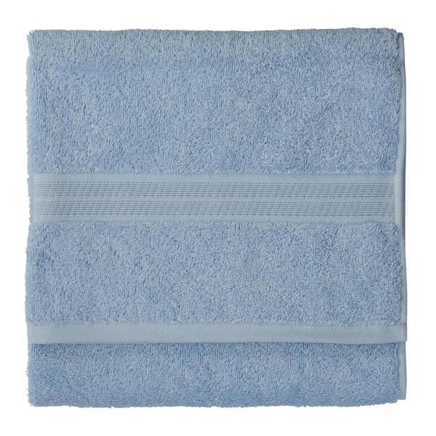 Blokker handdoek - blauw - katoen - 50 x 100 cm