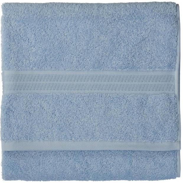 Blokker handdoek - blauw - katoen - 110 x 60 cm