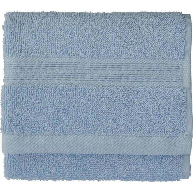 Blokker gastendoek - blauw - katoen - 30 x 50 cm
