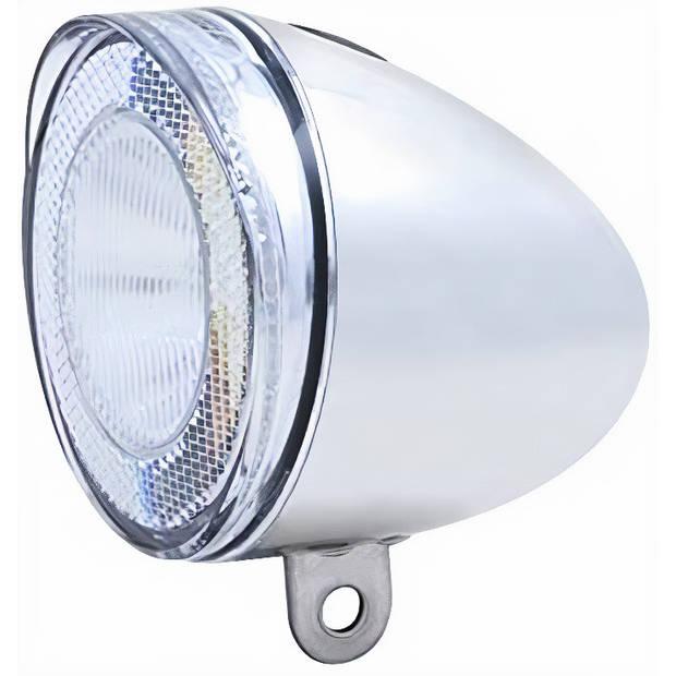 Spanninga koplamp Swingo led 4 lux aluminium chroom