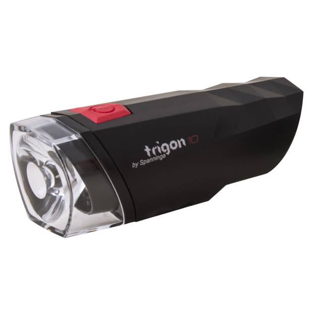 Spanninga koplamp Trigon 10 led zwart