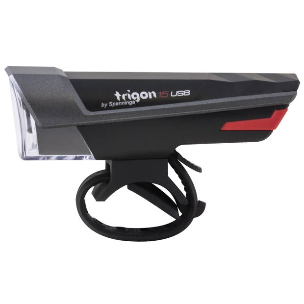 Spanninga koplamp Trigon 15 led zwart