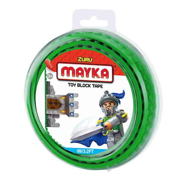 Mayka speelgoed blok tape 2 noppen - 1 meter - groen