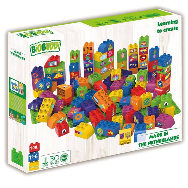 BiOBUDDi blokken met 3 basisplaten - 100 stukjes