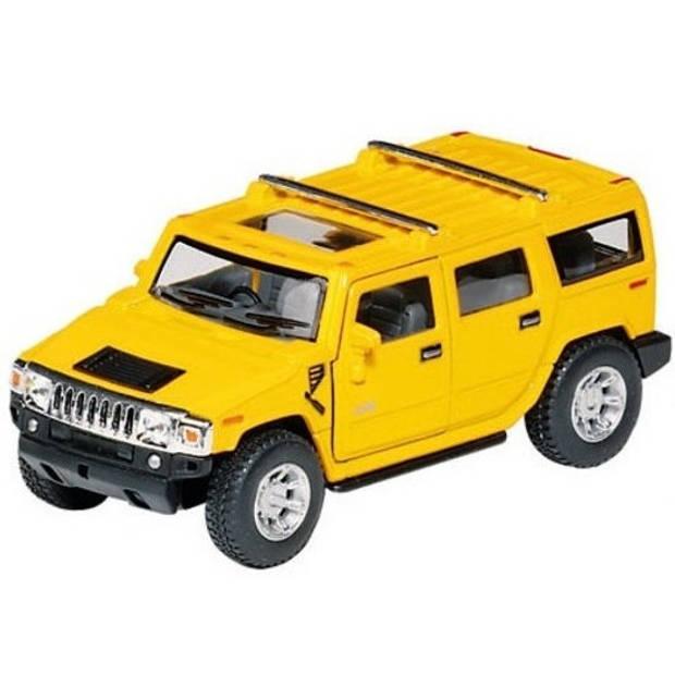 Goki METALEN HUMMER H2 SUV: 12,5 CM GEEL