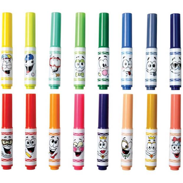 Crayola Viltstiften met fantasiepunten 16 stuks