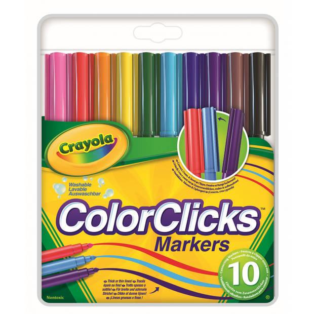 Crayola ColorClicks viltstiften 10 stuks