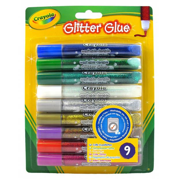 Crayola glitterlijmtubes 9 stuks