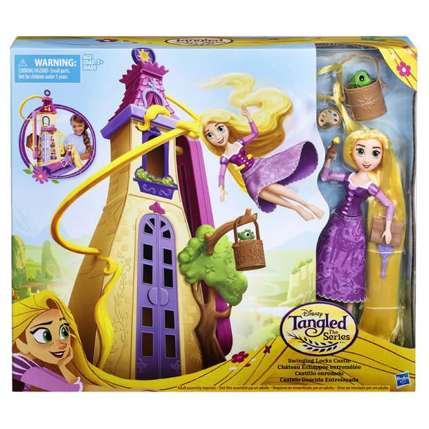 Disney Princess Rapunzel zwaaiende lokken kasteel