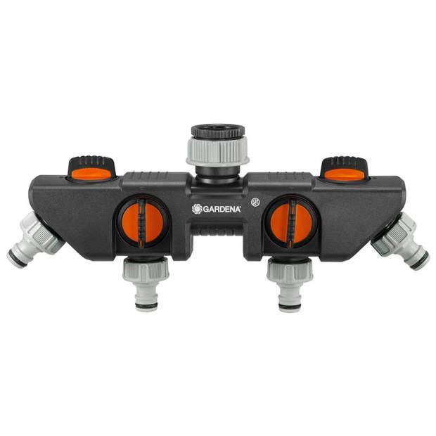 GARDENA Waterverdeler 4 kanalen zwart en oranje 8194-20