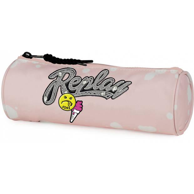 Stationery Team etui Replay roze 23 x 8 x 8 cm