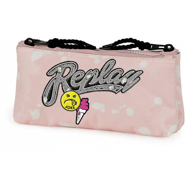 Stationery Team etui Replay Girls roze 10 x 21 x 6 cm