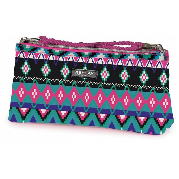 Stationery Team etui Replay Fashion roze 10 x 21 x 6 cm