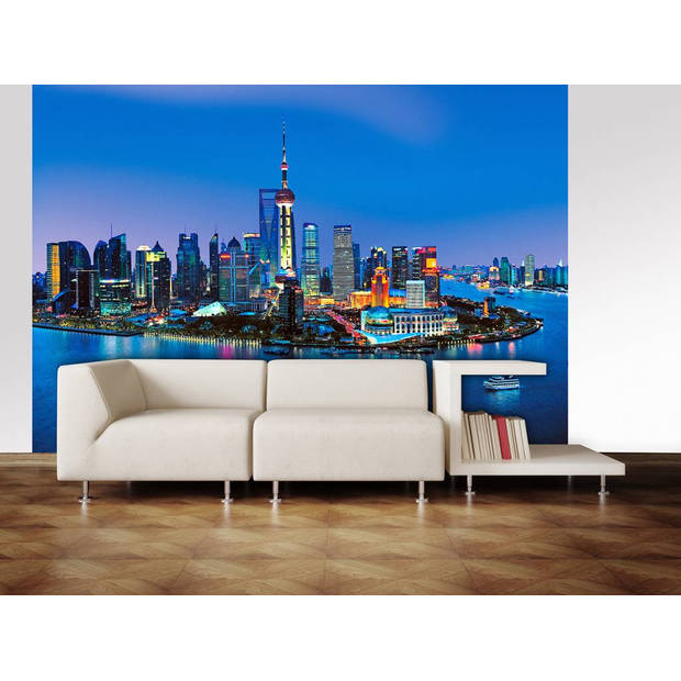 - Shanghai Skyline - 366 x 254 cm - Multi