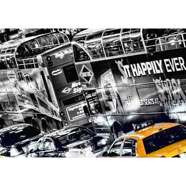 - New York Cabs Queue - 366 x 254 cm - Multi