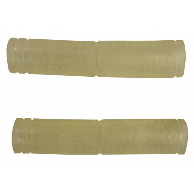 TOM handvatten 12,5 cm transparant per paar