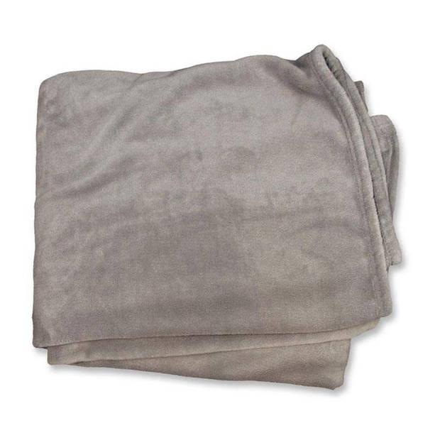 Unique Living Enzo fleece plaid - Fleece polyester - 130x180 cm - Grijs