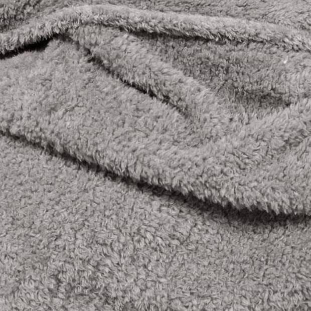 Unique Living Teddy fleece plaid - Fleece polyester - 150x200 cm - Grijs
