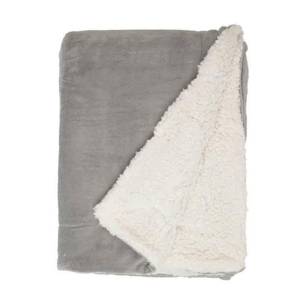 Unique Living Lars fleece plaid - 100% polyester - 150x200 cm - Grijs