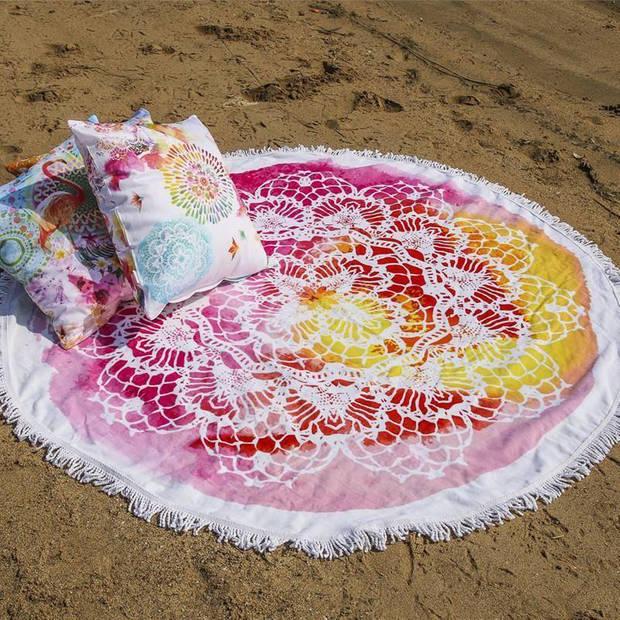 HIP Germaine rond strandlaken - 100% katoen - Ø 160 cm - Multi